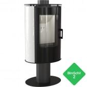 Free-standing stove KOZA AB S/N/O GLASS Kafel