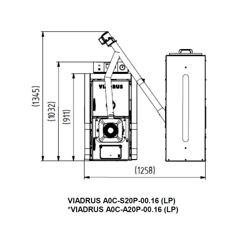 Automatischer Gussheizkessel Viadrus A0C LP - 5 Glieder mit ...