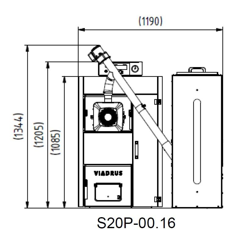 Automatischer Gussheizkessel VIADRUS A2C 5 Glieder für Holzpellets.