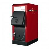Piec zasypowy na węgiel i drewno ORLAŃSKI Orlingo 100 o mocy 30kW z mechanicznym miarkownikiem ciągu powietrza