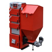 Piec centralnego ogrzewania z żeliwnym podajnikiem na ekogroszek STALMARK DUO-PID 16-36 kW