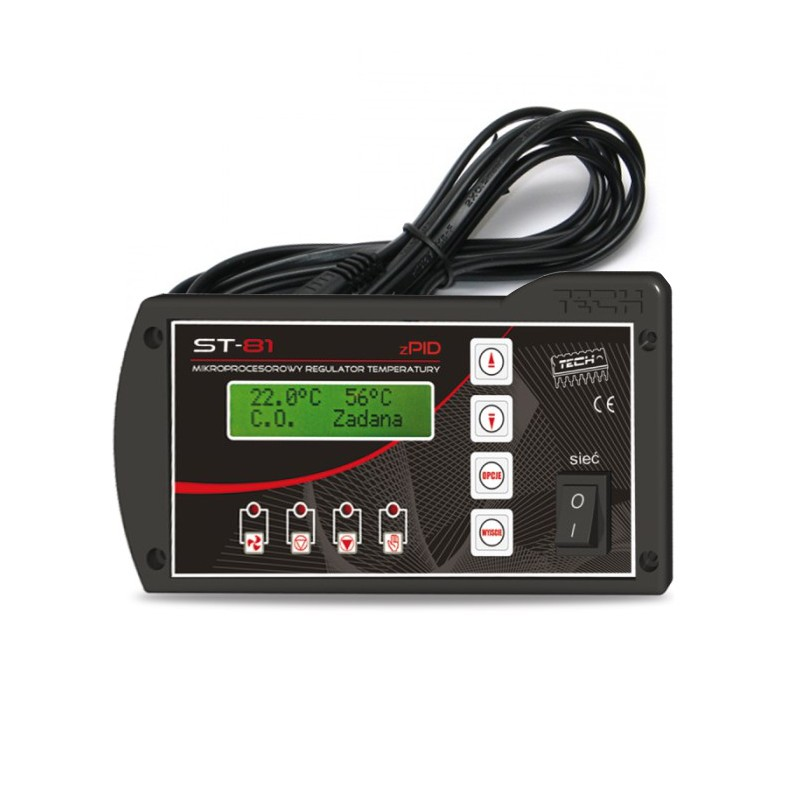 Chwalebne Sterownik pieca c.o TECH ST-81 zPID z czujnikiem temperatury spalin NU63