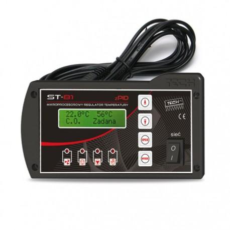 Sterownik kotła c.o TECH ST-81 zPID z czujnikiem temperatury spalin