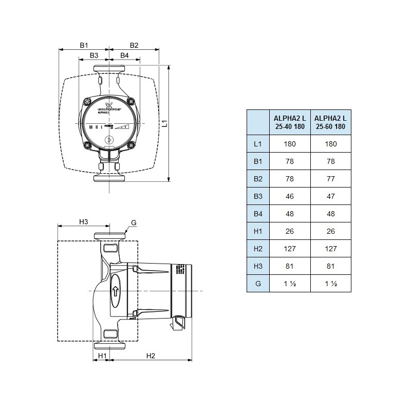 central heating pump grundfos alpha 2 l 25 40 180 central heating pump grundfos alpha 2 l 25 40 180 grundfos pump wiring diagram at reclaimingppi.co