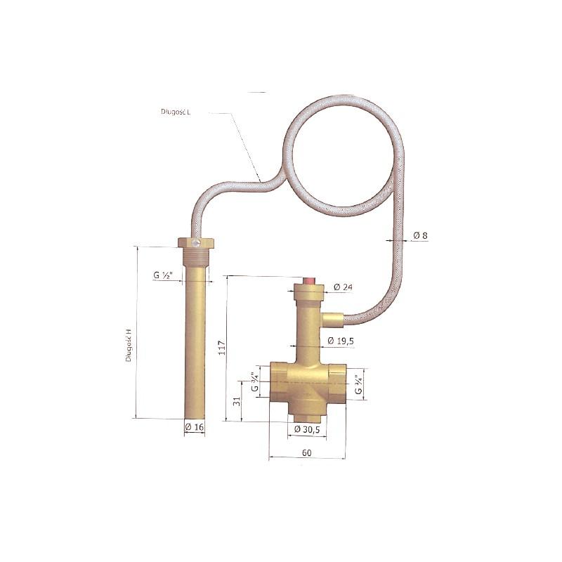 Sicherheitswärmetauscher WZS-1 für Kessel bis 35 kW
