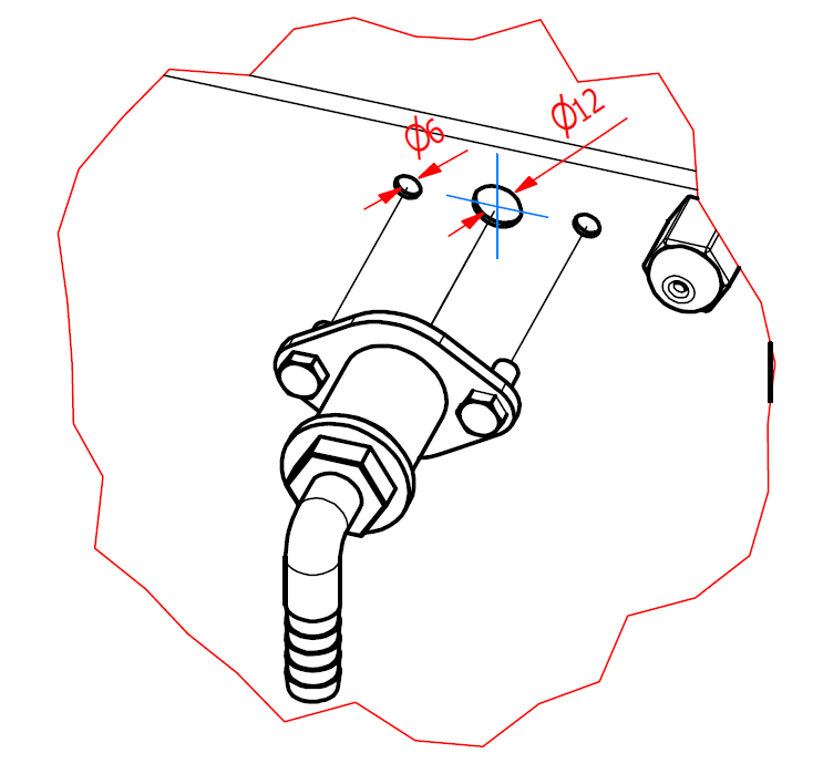 Przewód napowietrzania zasobnika paliwa