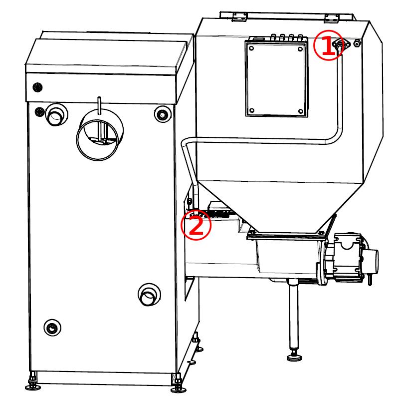 Przewód napowietrzania zasobnika paliwa kotła z podajnikiem OGNIWO EKO Plus